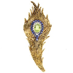 Tiffany & Co. Peridot Feather Brooch