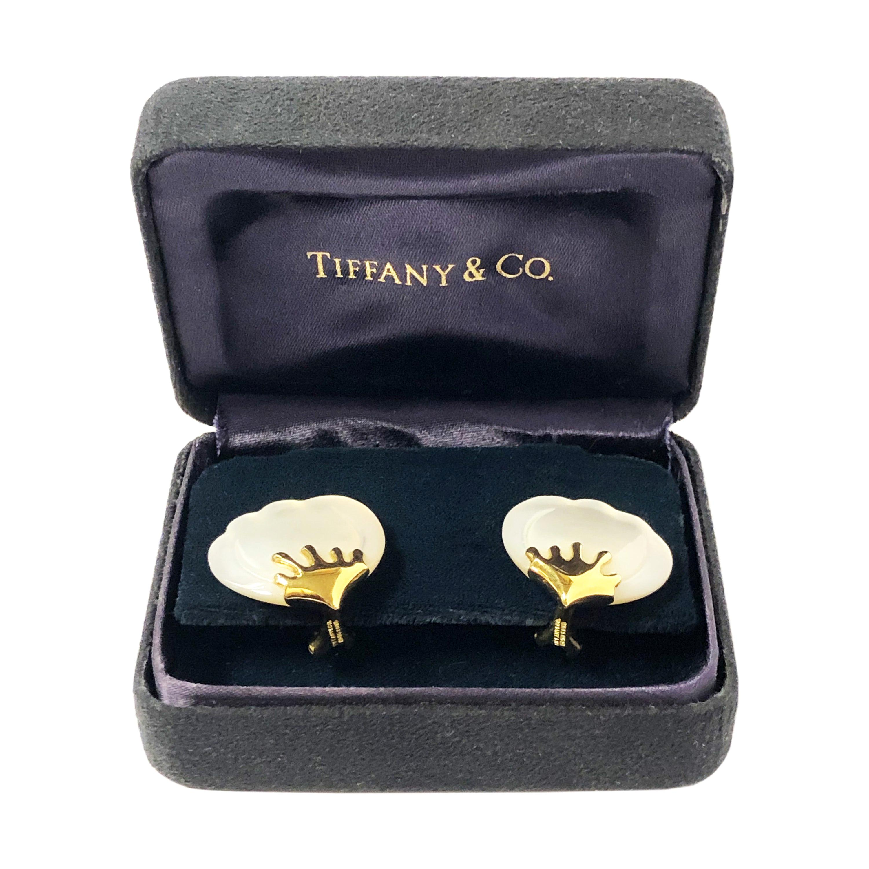 Tiffany & Co. Petal, Gold and Mother of Pearl Earrings