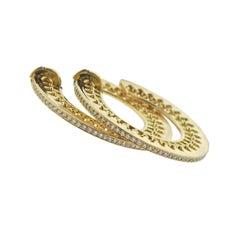 Tiffany & Co. Picasso Venezia Stella Gold Diamond Hoop Earrings