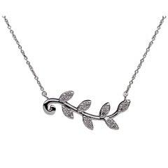 Tiffany & Co Picasso White Gold 0.15 Carat Round Diamond Chain Pendant