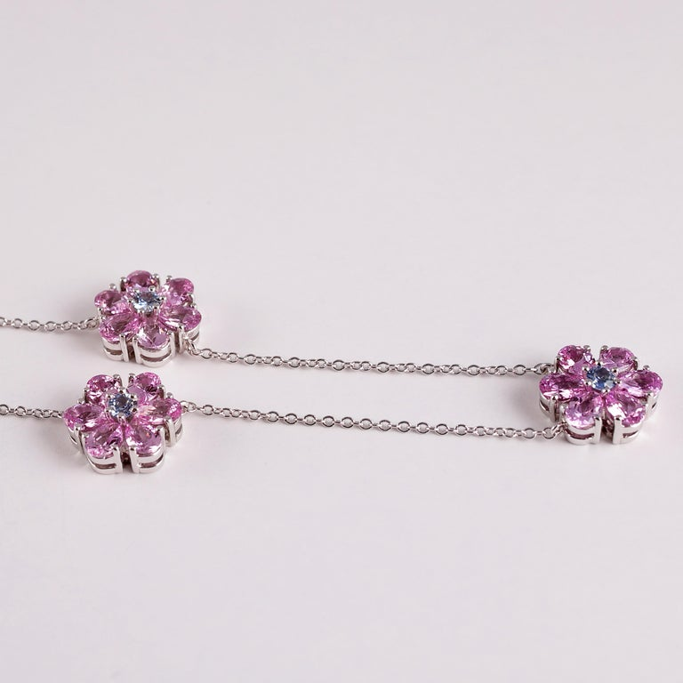Tiffany & Co. Pink and Blue Sapphire Necklace For Sale 1