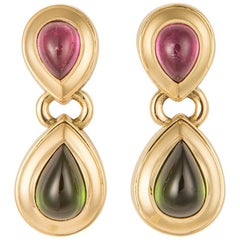Tiffany & Co. Pink and Green Tourmaline Earrings