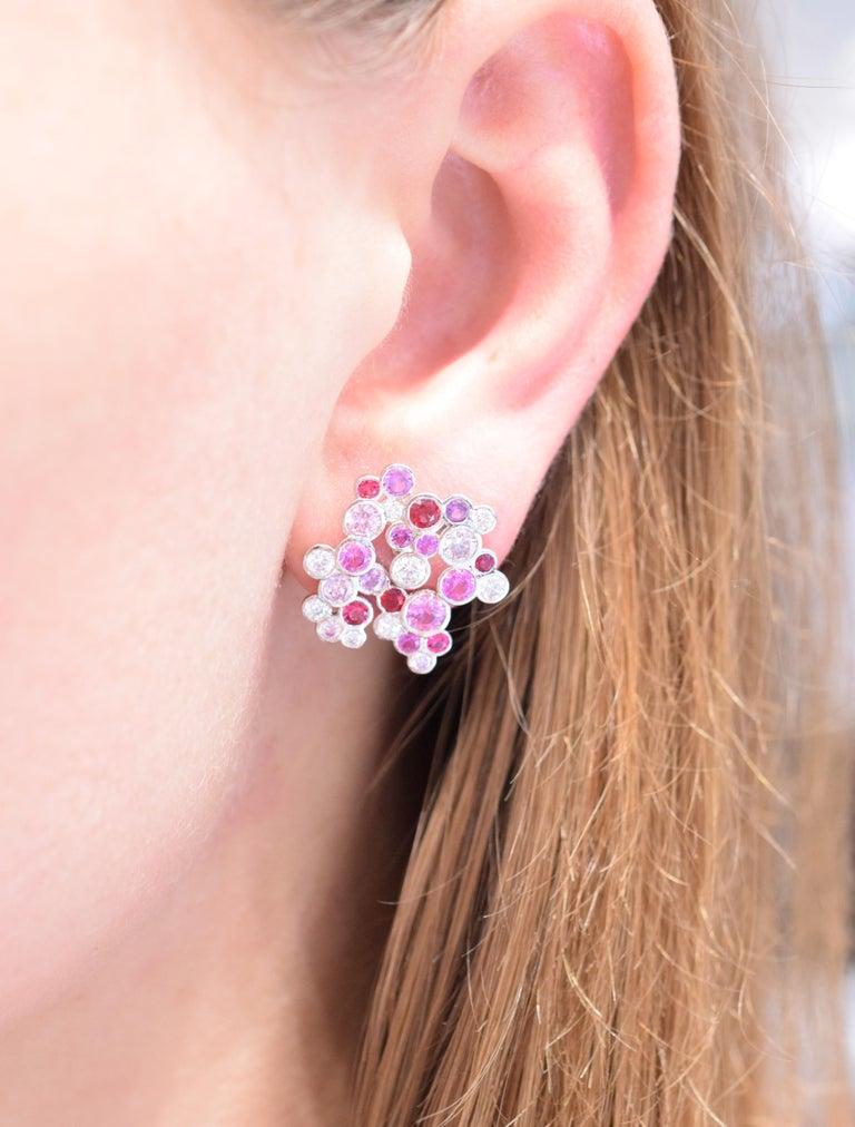 Artist Tiffany & Co. Pink Diamond, Sapphire Bracelet or Earrings For Sale