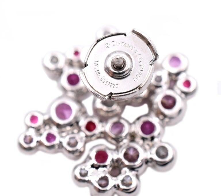 Round Cut Tiffany & Co. Pink Diamond, Sapphire Bracelet or Earrings For Sale