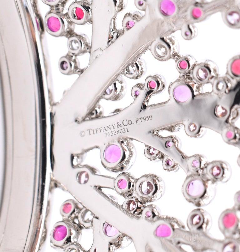 Women's Tiffany & Co. Pink Diamond, Sapphire Bracelet or Earrings For Sale