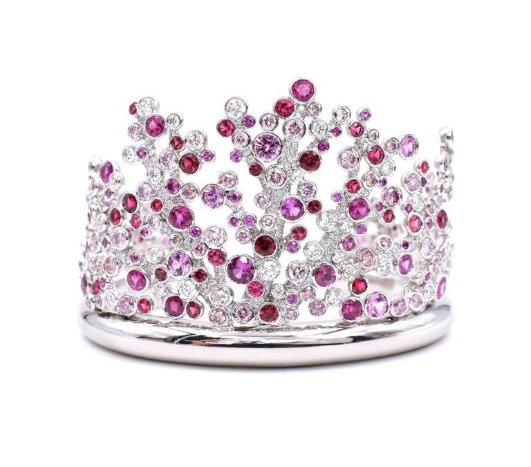 Tiffany & Co. Pink Diamond, Sapphire Bracelet or Earrings For Sale 2