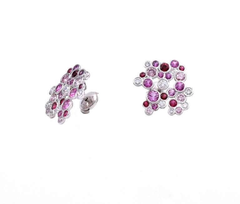 Tiffany & Co. Pink Diamond, Sapphire Bracelet or Earrings For Sale 3