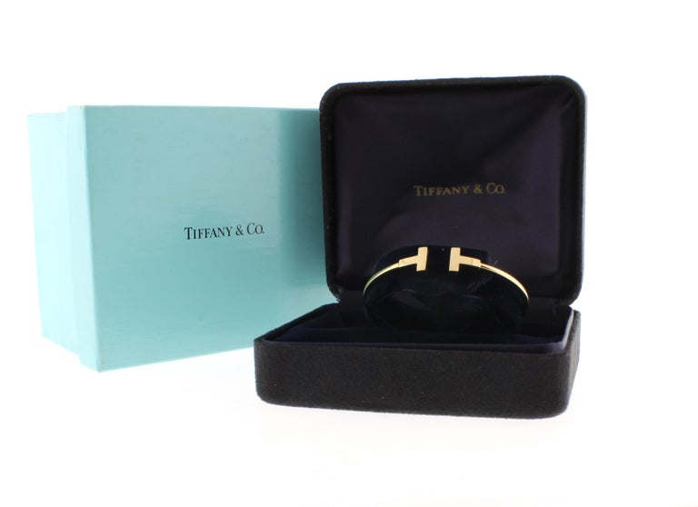 Tiffany & Co. Pink Gold Wire T Bracelet For Sale 1