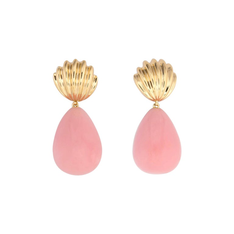 Tiffany & Co. Pink Opal Drop Earrings For Sale