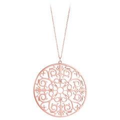 Tiffany & Co. Pink Rubedo Enchant Round Pendant Necklace Extra Large