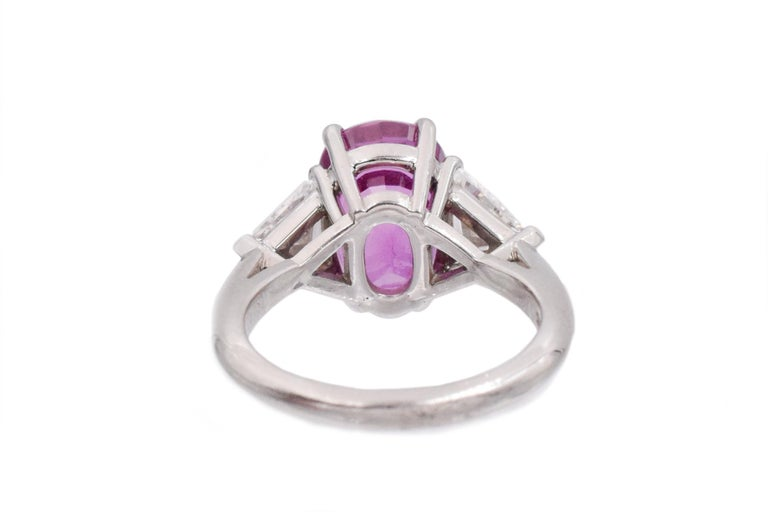 Artist Tiffany & Co. Pink Sapphire and Diamond Ring For Sale