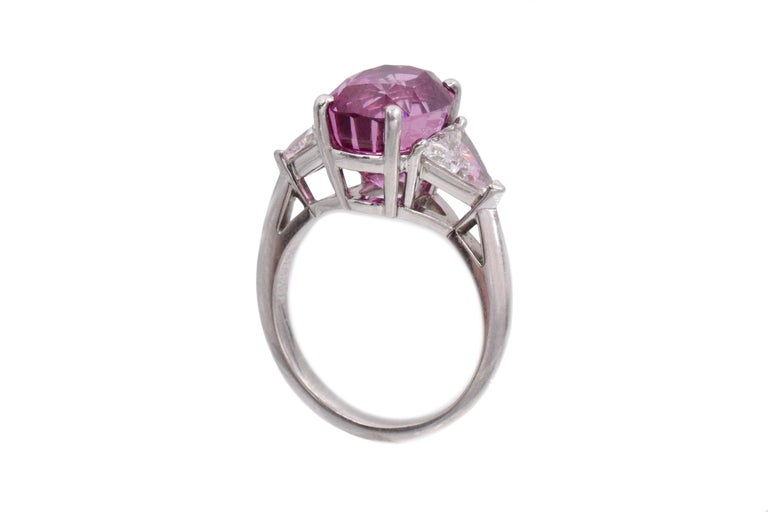 Women's Tiffany & Co. Pink Sapphire and Diamond Ring For Sale