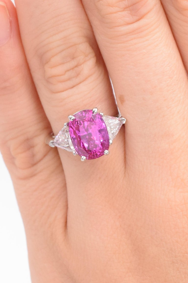 Tiffany & Co. Pink Sapphire and Diamond Ring For Sale 1