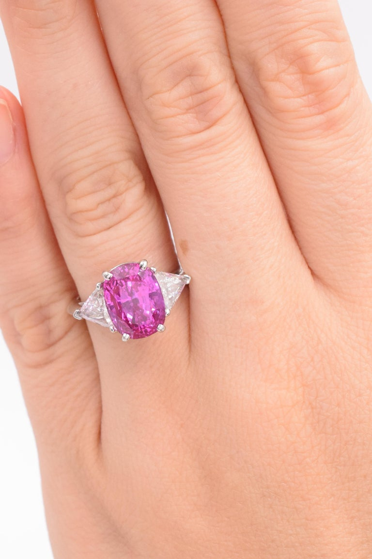 Tiffany & Co. Pink Sapphire and Diamond Ring For Sale 2