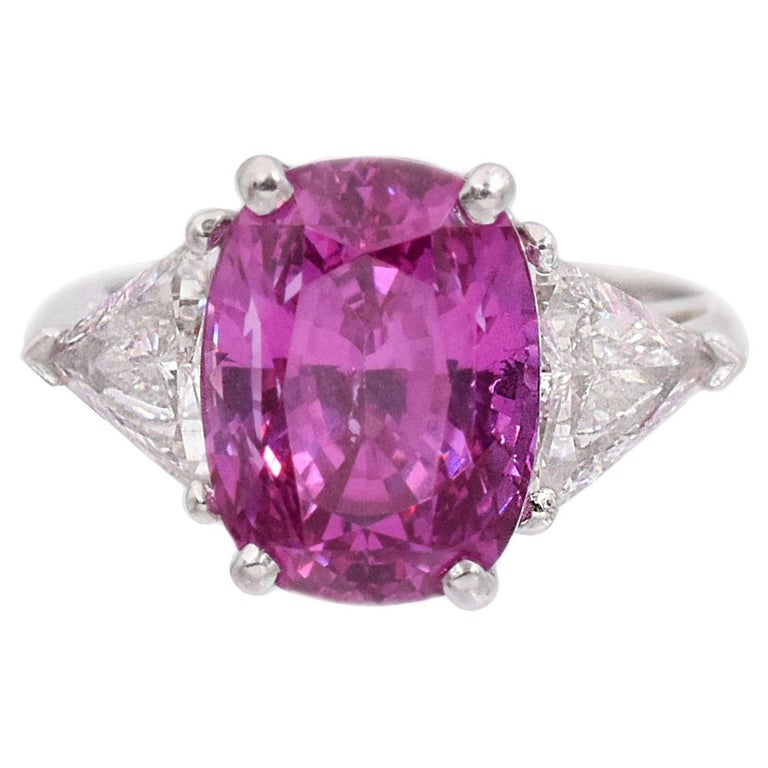 Tiffany & Co. Pink Sapphire and Diamond Ring For Sale