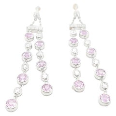 Tiffany & Co. Pink Sapphire Diamond Jazz Earrings