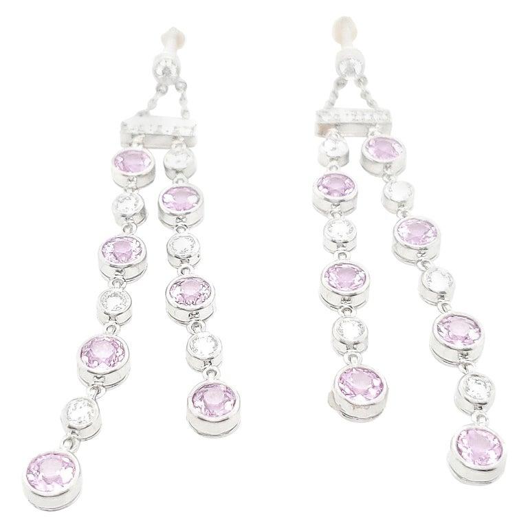 Tiffany & Co. Pink Sapphire Diamond Jazz Earrings For Sale