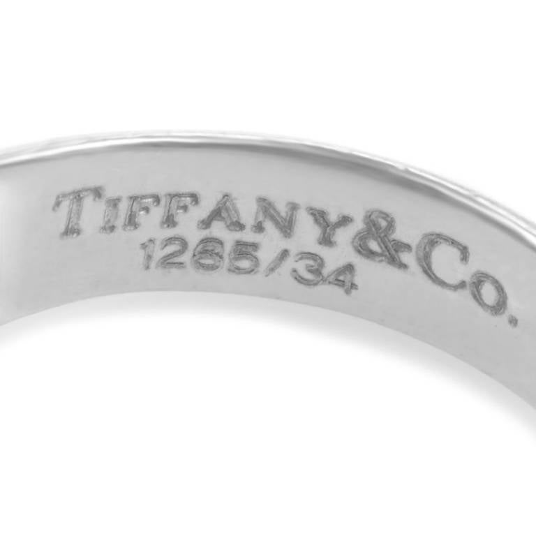 Women's Tiffany & Co. Pink Tourmaline Diamond White Gold Dome Ring For Sale