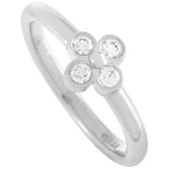 Tiffany & Co. Platinum 0.10 Carat Diamond Ring
