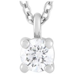 Tiffany & Co. Platinum 0.12 Carat Diamond Pendant Necklace