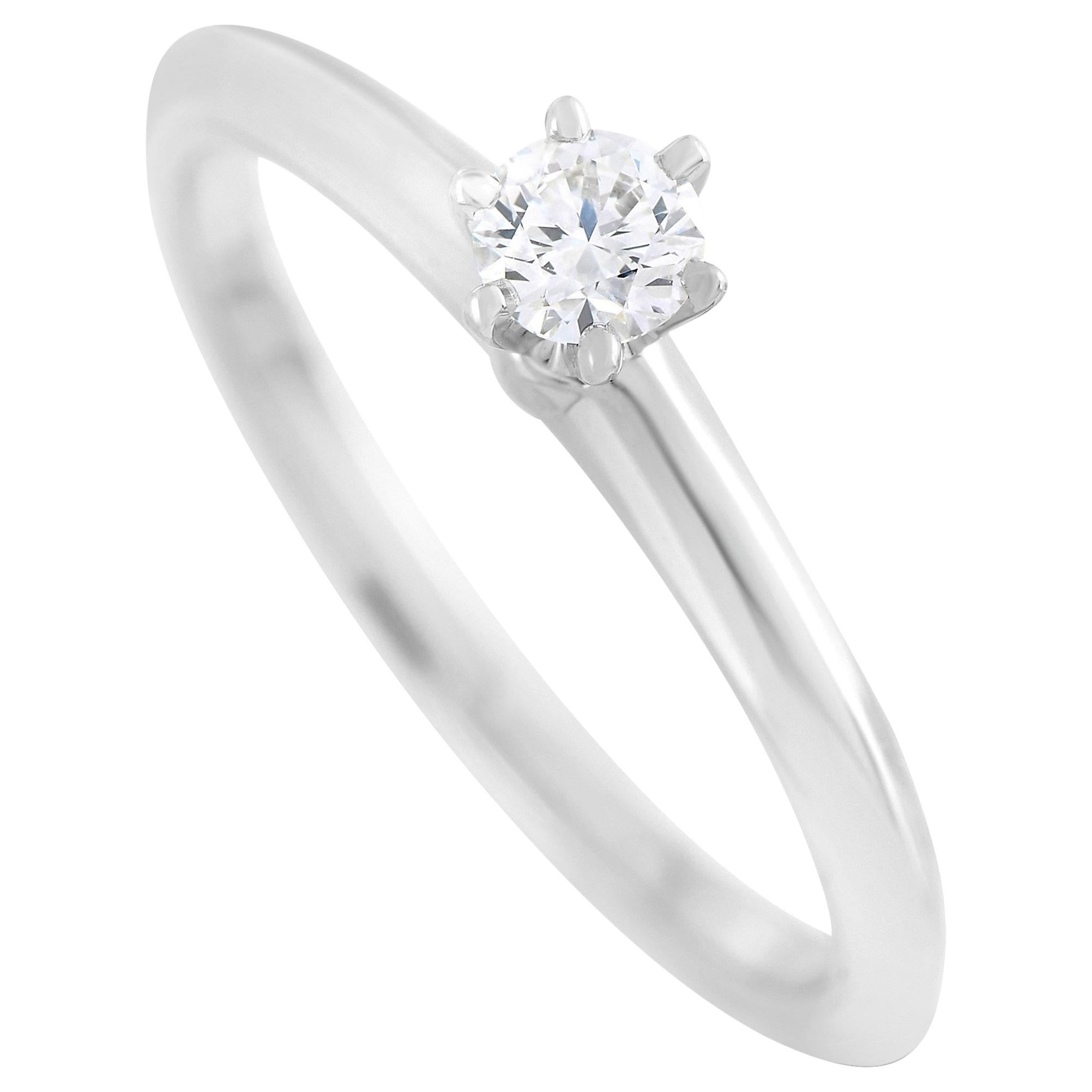 Tiffany & Co. Platinum 0.19 Carat Diamond F-VS1 Engagement Ring