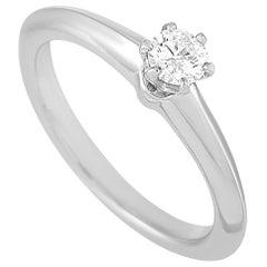 Tiffany & Co. Platinum 0.20 Carat Diamond Engagement Ring