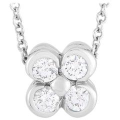 Tiffany & Co. Platinum 0.20 Carat Diamond Pendant Necklace