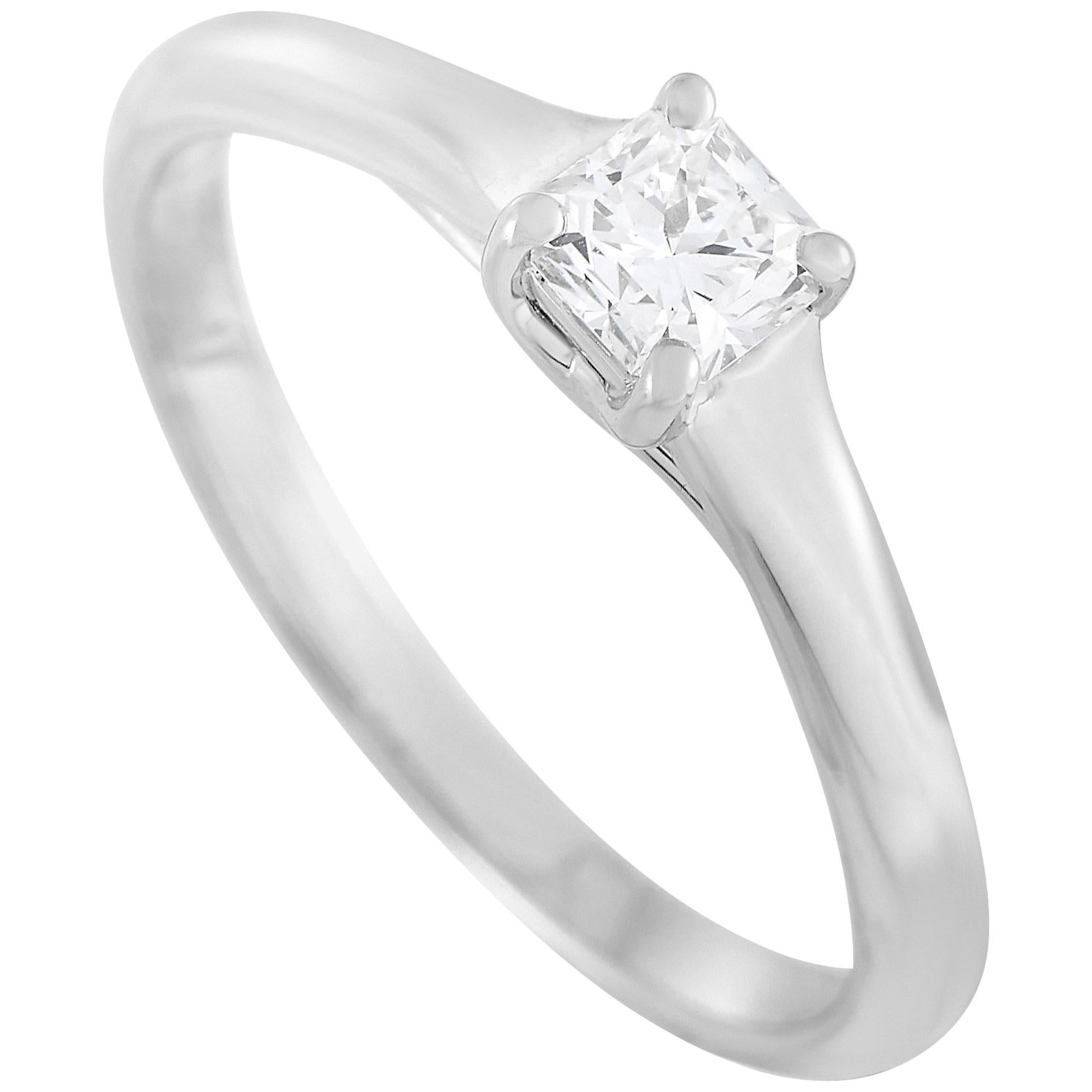 Tiffany & Co. Platinum 0.29 Carat Lucida Diamond Engagement Ring