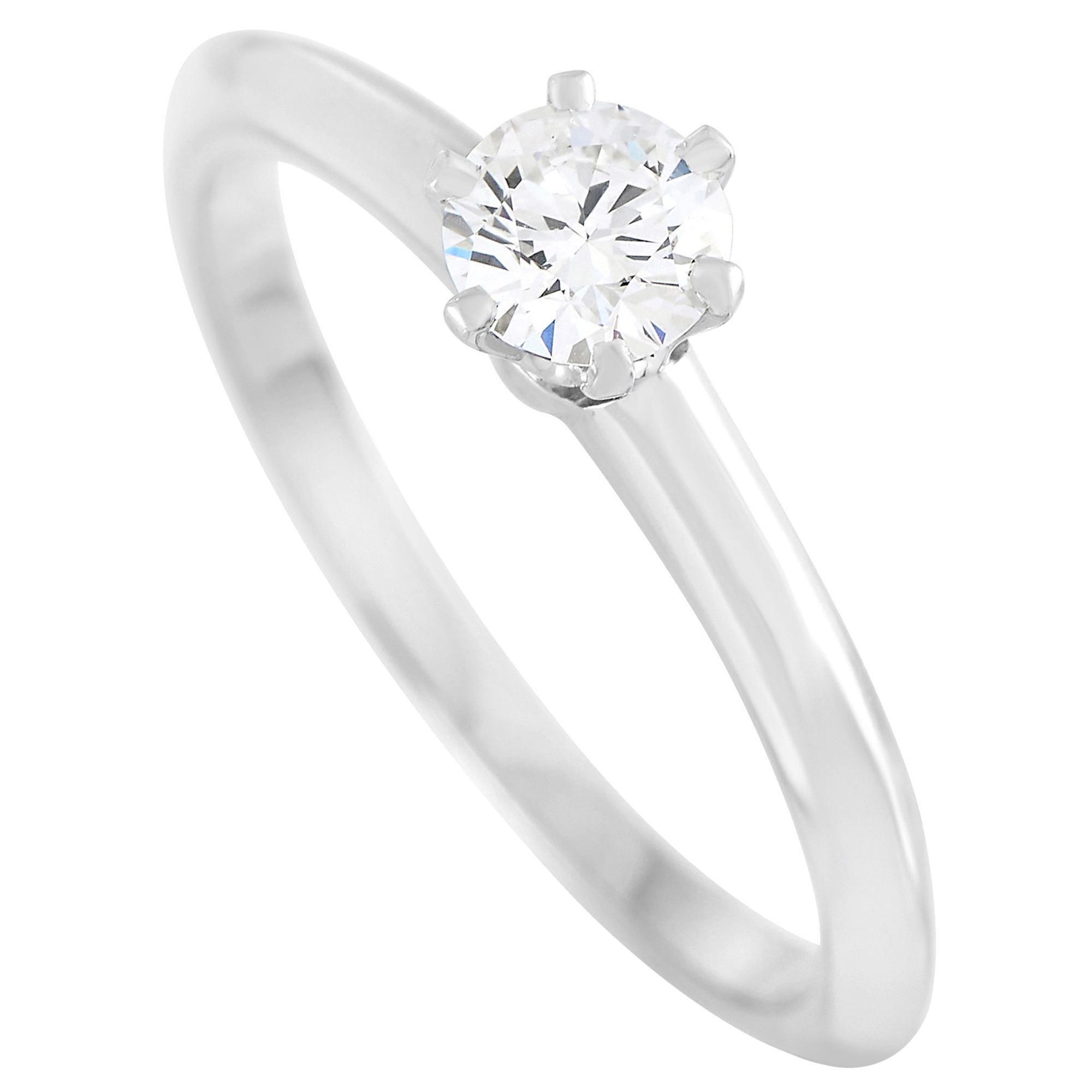 Tiffany & Co. Platinum 0.30 Carat Diamond F-VS1 Engagement Ring