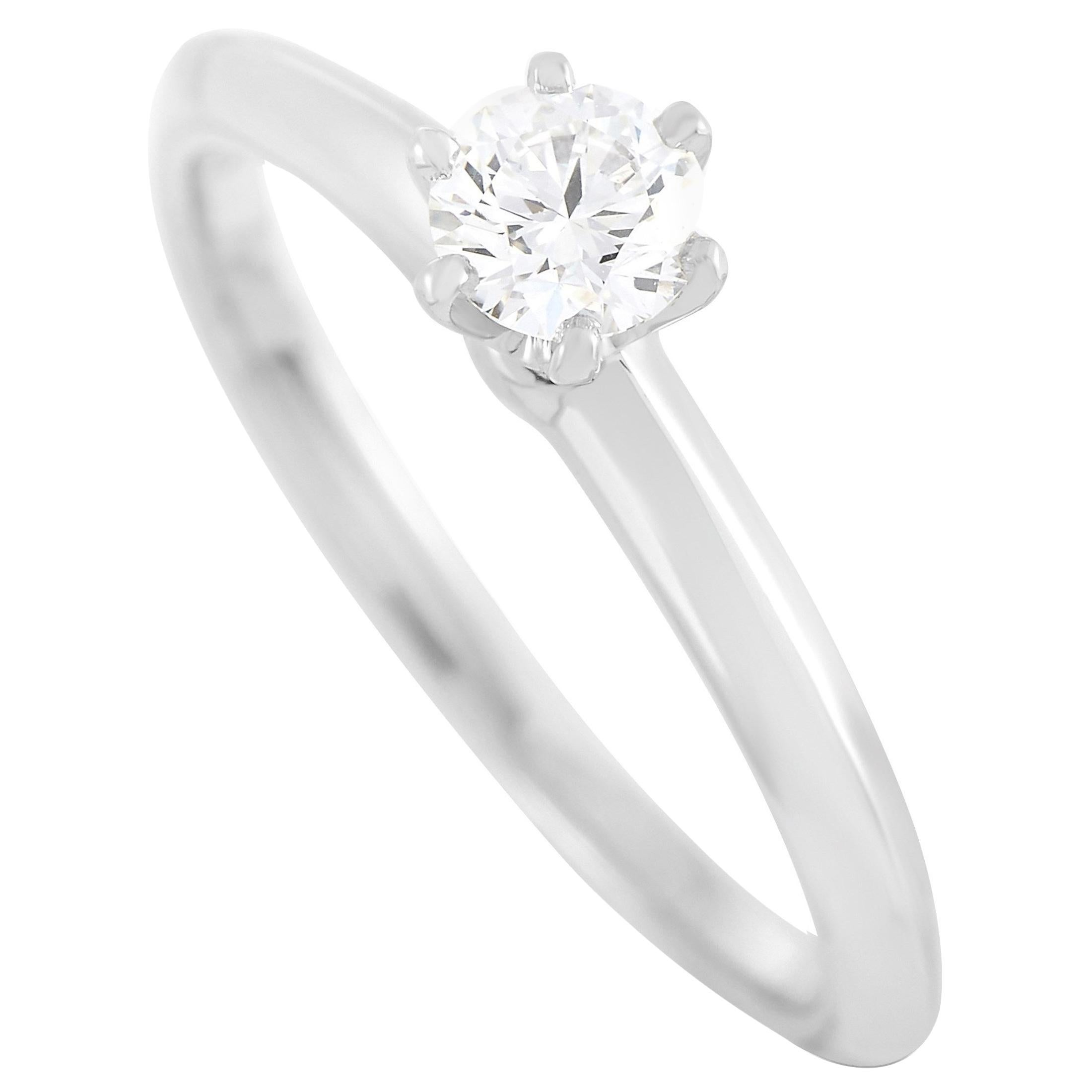Tiffany & Co. Platinum 0.30 Carat Diamond H-VS2 Engagement Ring