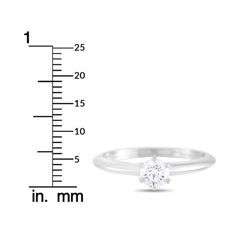 Tiffany & Co. Platinum 0.30 Carat Diamond F-VS1 Engagement Ring For Sale 3