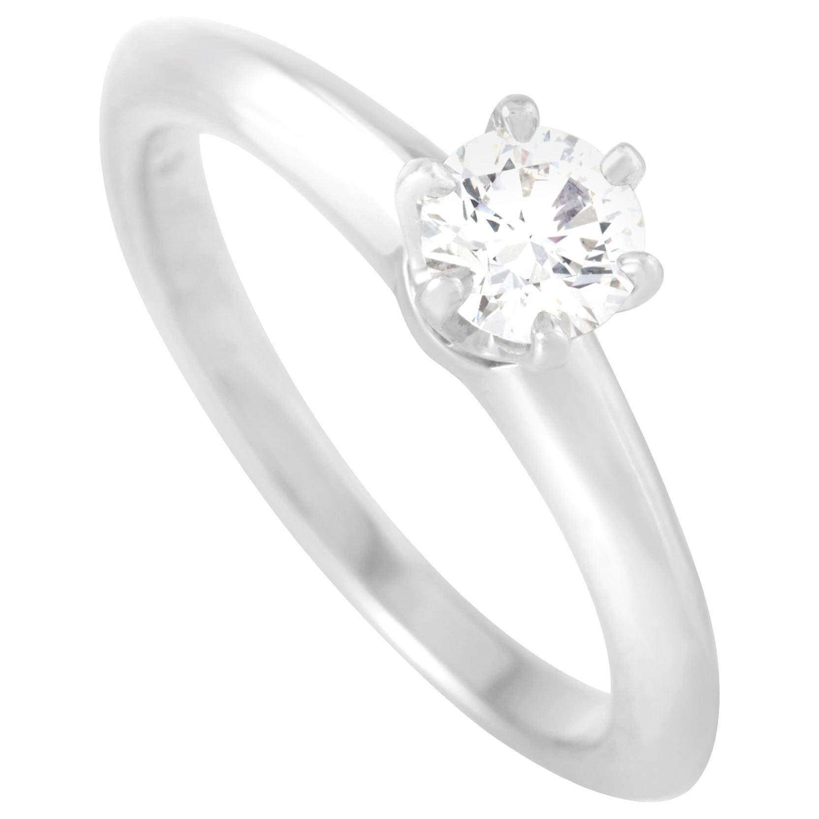 Tiffany & Co. Platinum 0.31 Carat Diamond Solitaire Ring