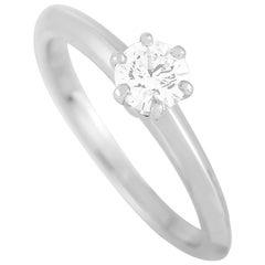 Tiffany & Co. Platinum 0.32 Carat Diamond Engagement Ring