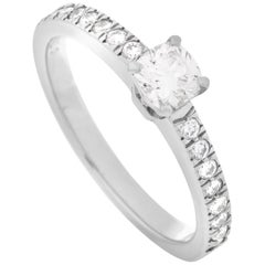 Tiffany & Co. Platinum 0.32 Carat Diamond Ring