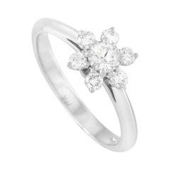 Tiffany & Co. Platinum 0.35 Ct Diamond Halo Cocktail Ring