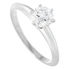 Tiffany & Co. Platinum 0.40 Carat Diamond Solitaire Ring