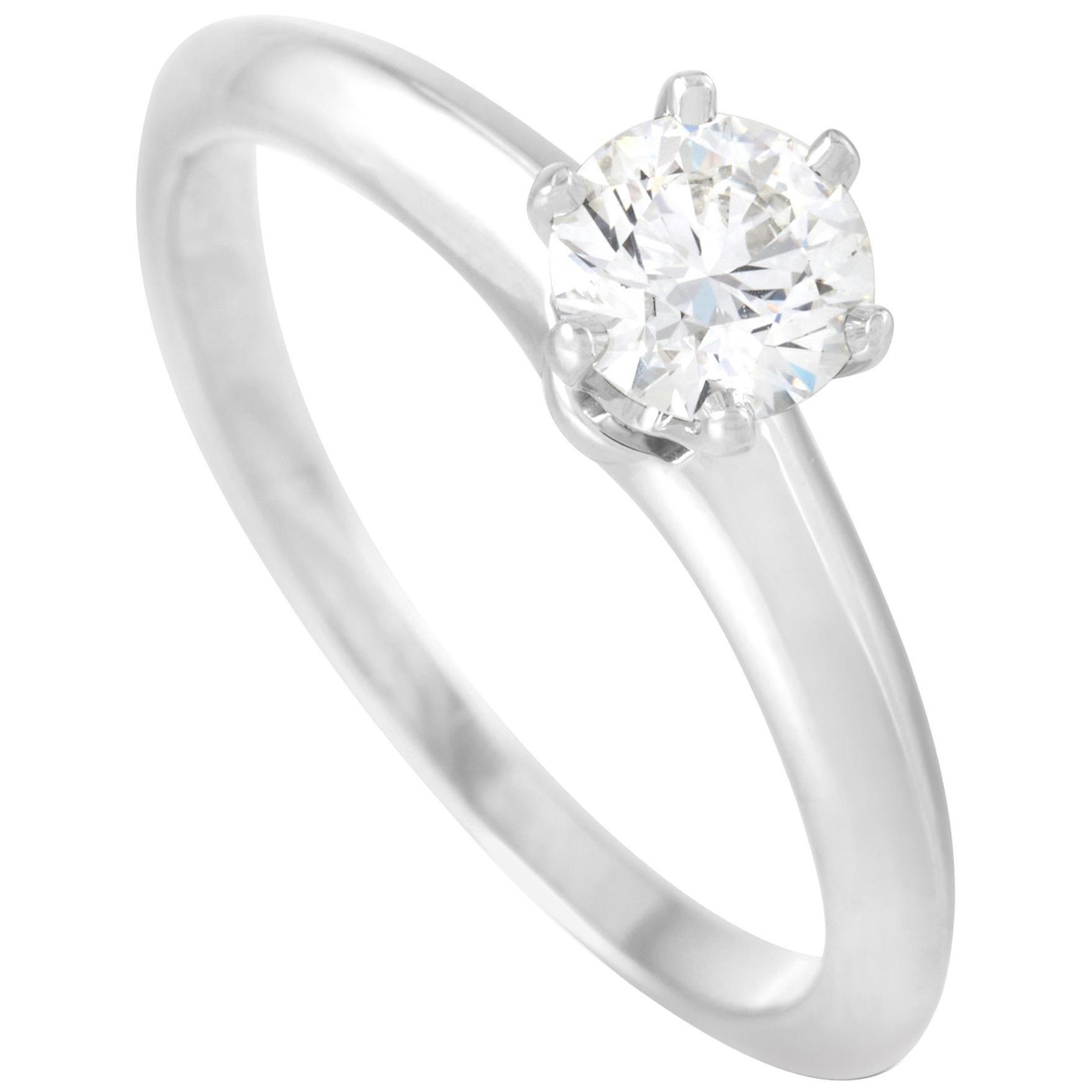 Tiffany & Co. Platinum 0.48 Carat Diamond Solitaire Ring