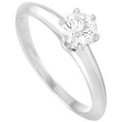 Tiffany & Co. Platinum 0.48 Carat Diamond Solitaire Ring