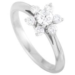 Tiffany & Co. Platinum 0.50 Carat Diamond Cluster Ring