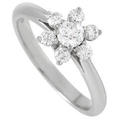 Tiffany & Co. Platinum 0.50 Carat Diamond Flower Cocktail Ring