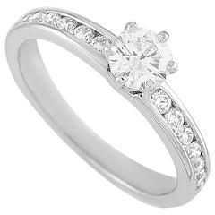 Tiffany & Co. Platinum 0.54 Carat Diamond Engagement Ring