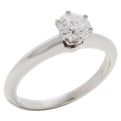 Tiffany & Co. Platinum 0.57 Carat Solitaire Diamond Engagement Ring