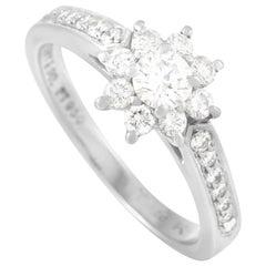 Tiffany & Co. Platinum 0.75 Carat Diamond Flower Ring