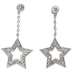 Tiffany & Co. Platinum 1 Carat Diamond Star Earrings