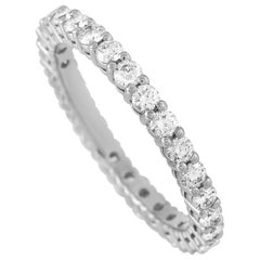 Tiffany & Co. Platinum 1.00 Carat Diamond Eternity Band Ring