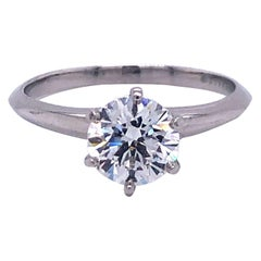 Tiffany & Co. Platinum 1.12 Carat GIA Diamond Solitaire Engagement Ring