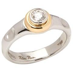 Tiffany & Co. Platinum and 18 Karat Gold 0.45 Carat Diamond Paloma Picasso Ring