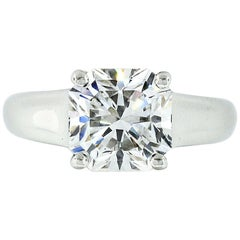 Tiffany & Co. Platinum 2.34 Carat E VS2 Lucida Diamond Solitaire Engagement Ring