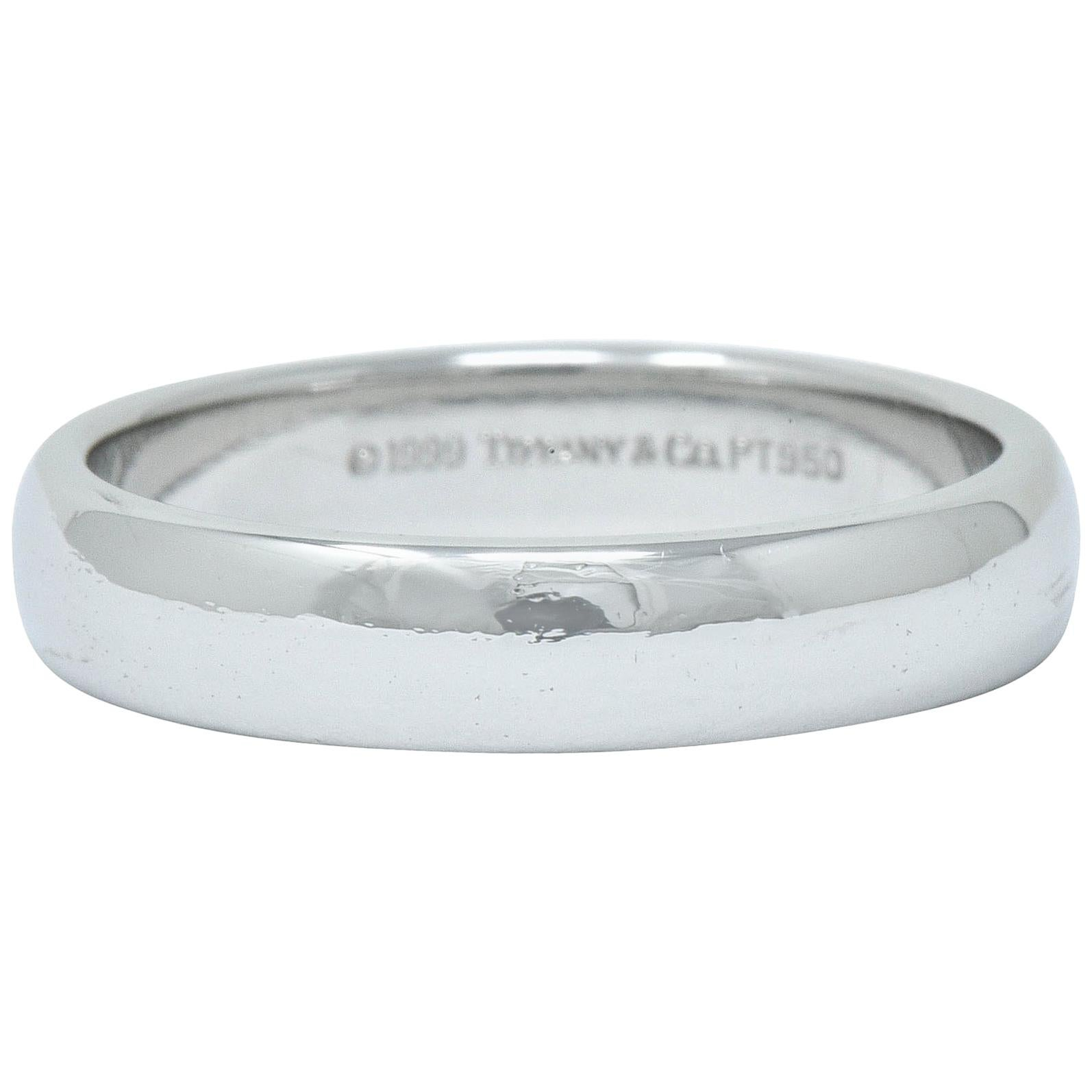 Tiffany & Co. Platinum Men's Wedding Band Ring