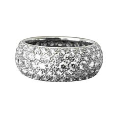 Tiffany & Co. Platinum 5-Row Diamond Etoile Wedding Band Ring with Papers